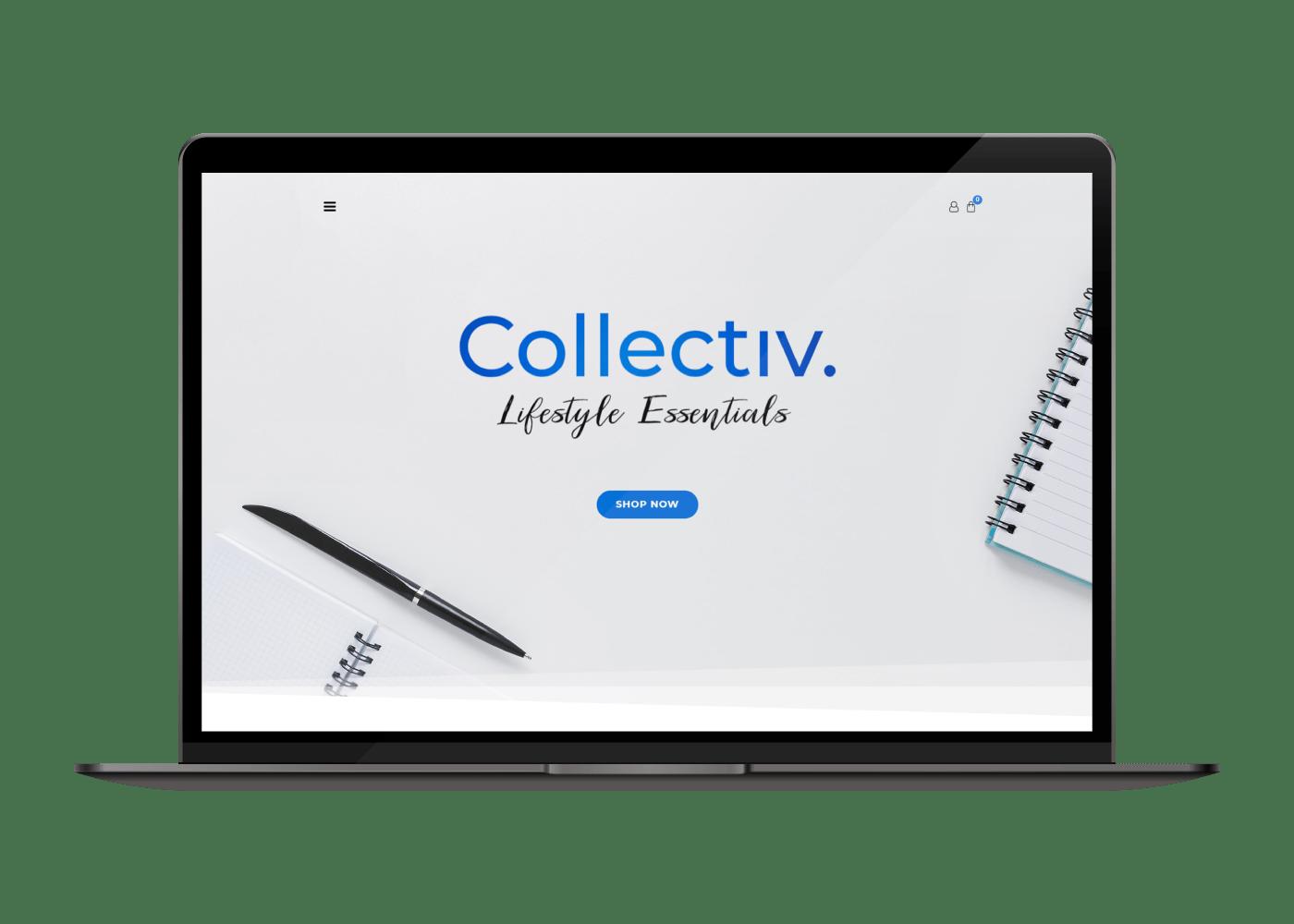 Collectiv. desktop website