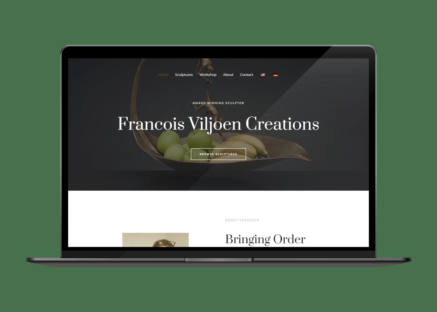 Viljoen Art desktop website