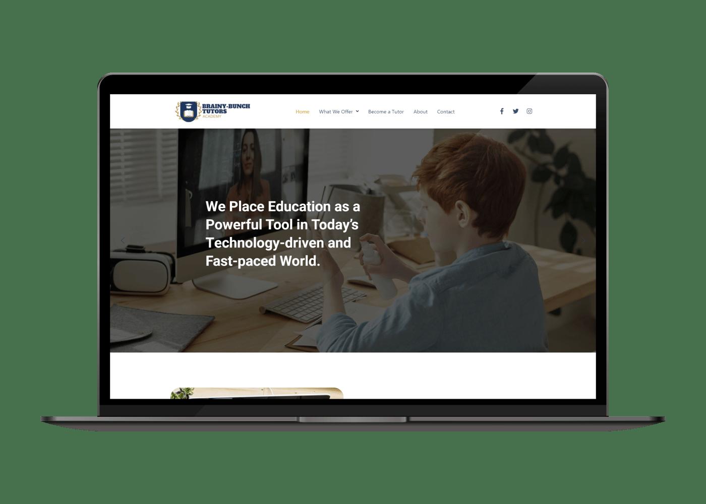 BBT Academy desktop website