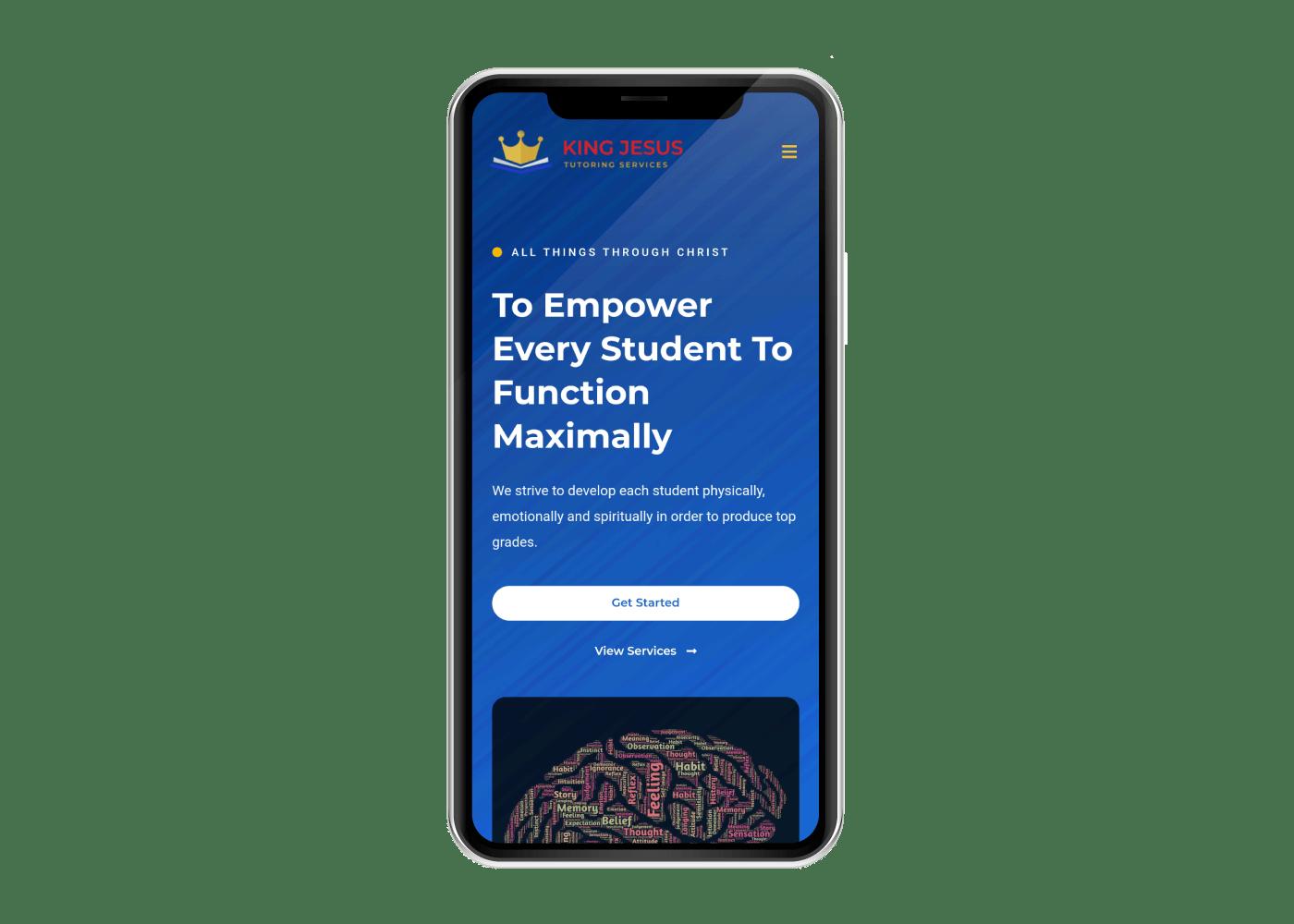 King Jesus Tutoring Services mobile website